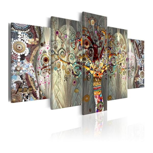 Tablou pe pânză din mai multe piese Bimago Tree of Life, 100 x 50 cm
