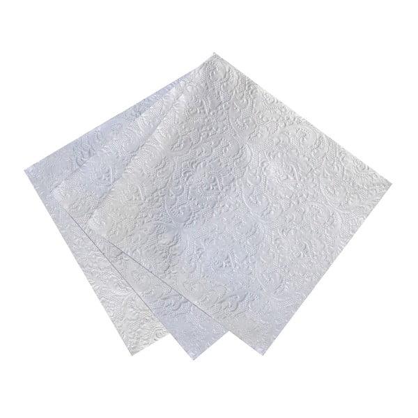 Sada 12 papierových obrúskov Talking Tables Party Silver, 33 x 33 cm