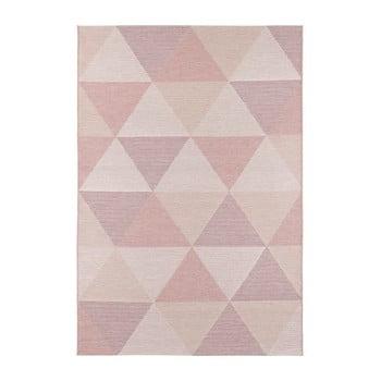 Covor adecvat și pentru exterior Elle Decor Secret Sevres, 80 x 150 cm, roz de la Elle Decor