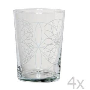 Sada 4 sklenic Rosace, 500 ml