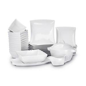 40dílná sada nádobí z bílého porcelánu Duo Gift