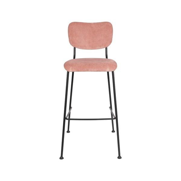 Sada 2 růžových barových židlí Zuiver Benson, výška 102,2 cm