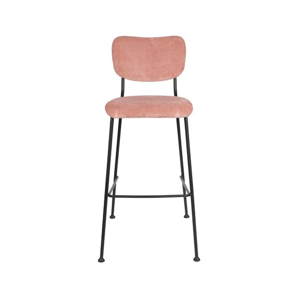 Set 2 scaune de bar Zuiver Benson, înălțime 102,2 cm, roz