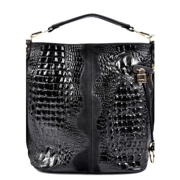 Černá kožená kabelka Roberta M Ganna