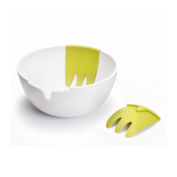 Salátová mísa, Hands On, bílá/zelená