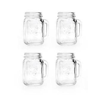 Set 4 pahare pentru băuturi spirtoase Kikkerland Jar, 30 ml de la Kikkerland