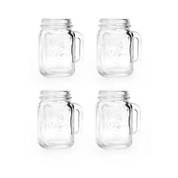 Set 4 pahare pentru băuturi spirtoase Kikkerland Jar, 30 ml