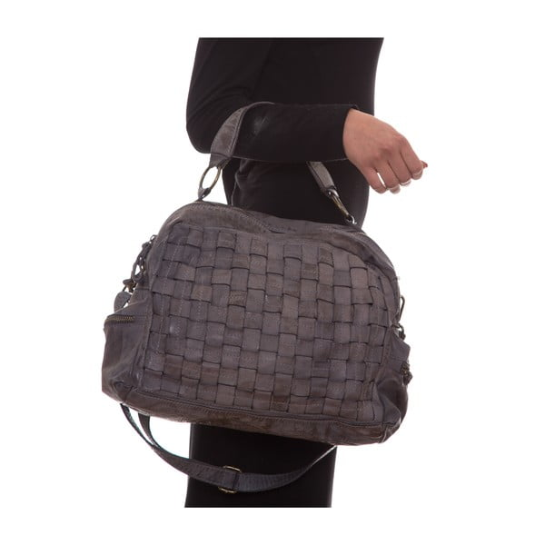 Kožená kabelka Mangotti 0004, šedá