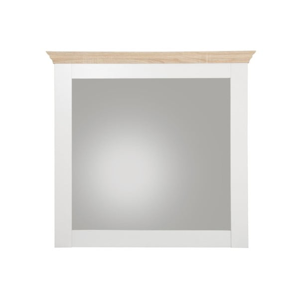 Oglindă de perete cu model de stejar Støraa Bruce, alb