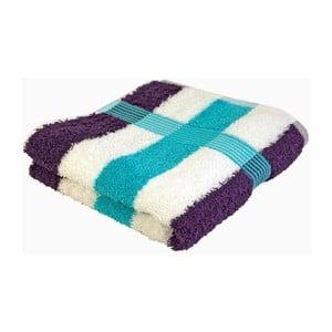 Ručník New York Strips Blue/White/Violet, 70x140 cm