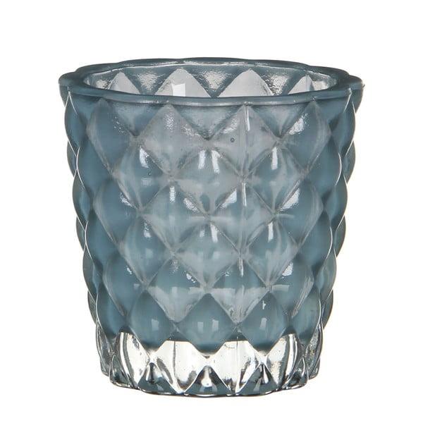 Stojan na svíčku Bent Turquoise, 8 cm