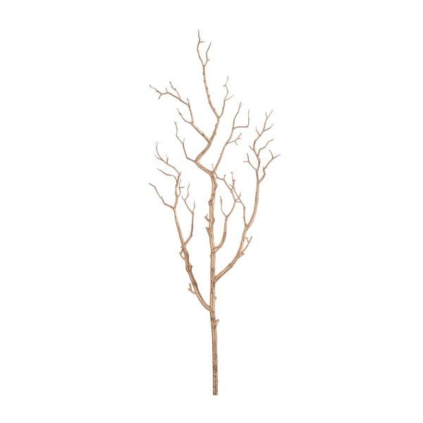 Dekorační větev J-Line Bare Tree Gold, 81 cm