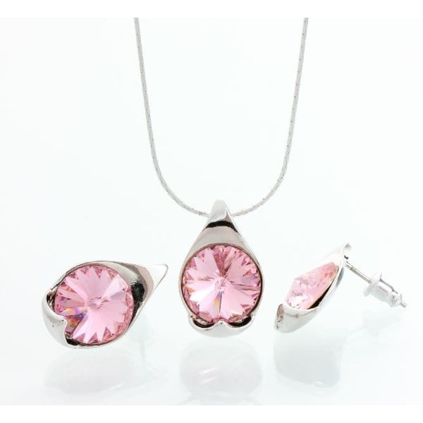 Set náhrdelníku a náušnic Laura Bruni Rosa
