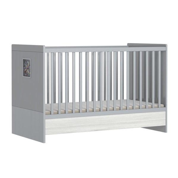 Pat variabil pentru copii cu bară protecție FAKTUM POLARINO, 70 x 140 cm