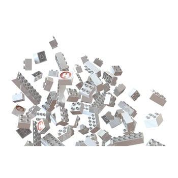 Joc de construcție Hubelino, 105 piese, alb-verde imagine