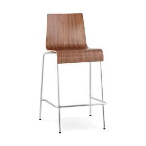 Barová židle se sedákem v dekoru ořechového dřeva Kokoon Cobe, výškasedu65cm