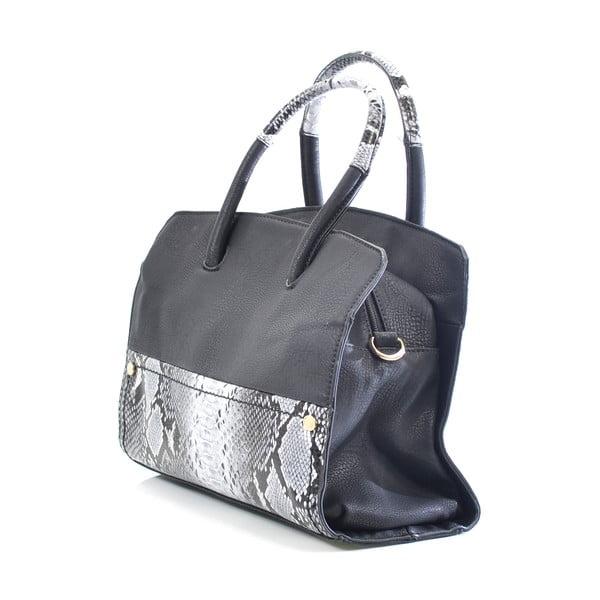 Kožená kabelka Chiara, černá
