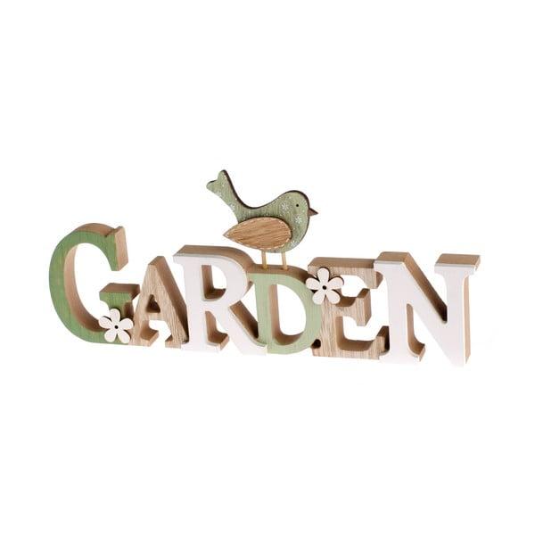 Dřevěný dekorativní nápis Dakls Garden