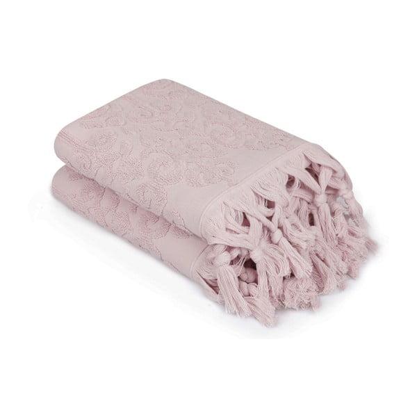 Komplet 2 pudrowych ręczników Madame Coco Bohème, 50x90 cm