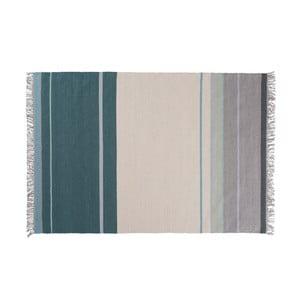 Vlněný koberec Metallum Aqua, 140x200 cm