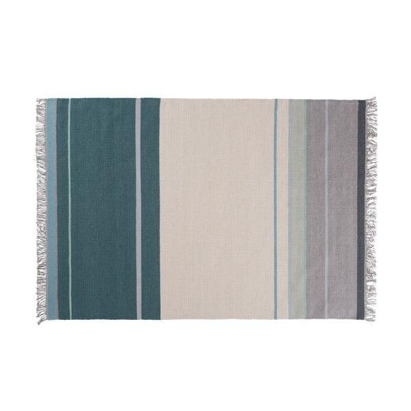 Vlněný koberec Metallum Aqua, 170x240 cm
