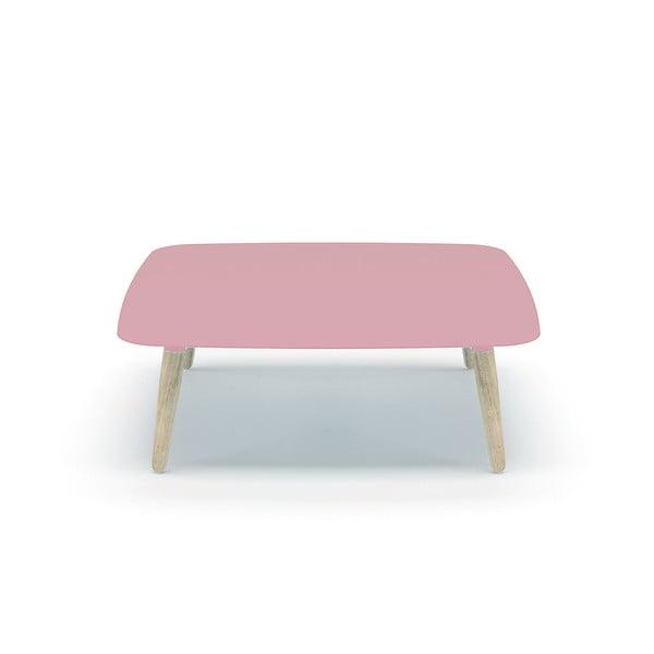 Růžový konferenční stolek MEME Design Nord Quadro