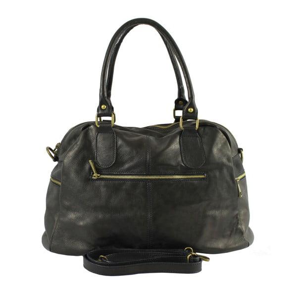 Černá kožená kabelka Jenny
