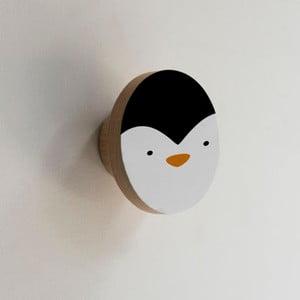 Dřevěný věšák ve tvaru zvířete Little Nice Things Penguin