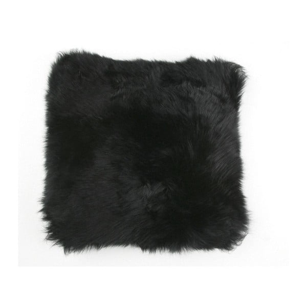 Kožešinový polštář Black, 35x35 cm