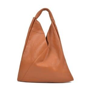 Koňakově hnědá kožená kabelka AnnaLuchini Hasico
