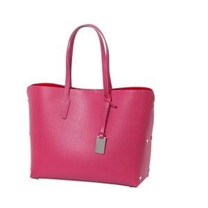 Tmavě růžová kabelka z pravé kůže Andrea Cardone Eulalia