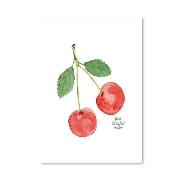 Autorský plakát Cherries, 30x42 cm