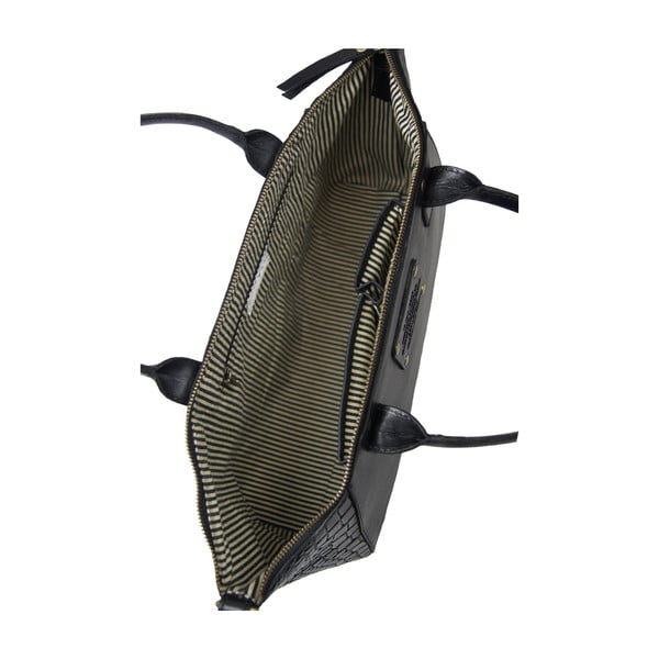 Kožená kabelka Fly Violet midi, krokodýlí
