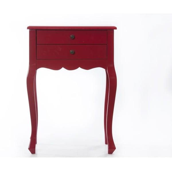 Odkládací stolek Nora Red, 52x35x72 cm