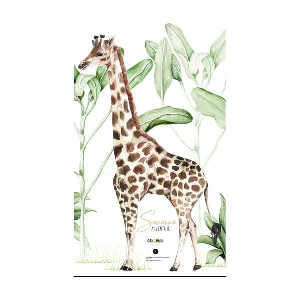 Naklejka ścienna z żyrafą Dekornik, 77 cm