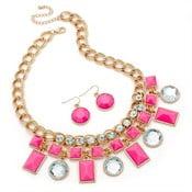 Set náhrdelník a náušnice Kara Pink