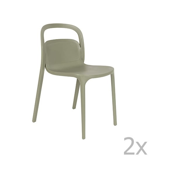 Set 2 scaune White Label Rex, verde