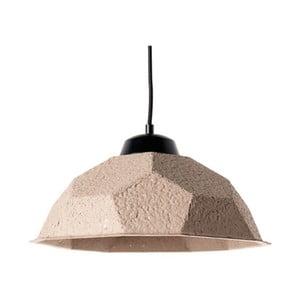 Hnědošedé závěsné svítidlo se stínidlem z recyklovaného papíru Design Twist Mosen