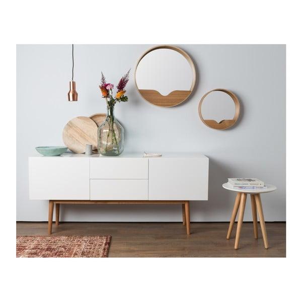 Zrcadlo s odkládacím prostorem Zuiver Round Wall, ⌀ 60 cm