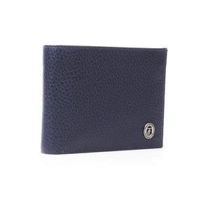 Modrá pánská kožená peněženka Trussardi Moneymaker, 12,5 x 9,5 cm