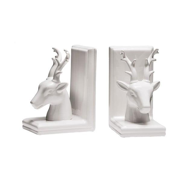 Sada 2 zarážek na knihy White Deer