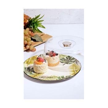 Platou din ceramică și capac înalt Kutahya It´s a Cake!