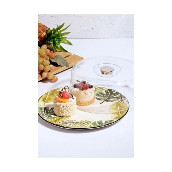 Sada keramického servírovacieho taniera a poklopu Kutahya It 'a Cake!