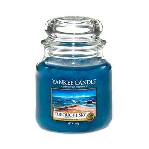 Vonná svíčka Yankee Candle Tyrkysová Obloha, doba hoření 65 - 90 hodin
