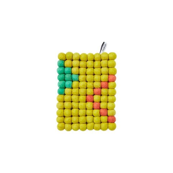 Vlněná podložka Trivet Lemon, 22x17 cm