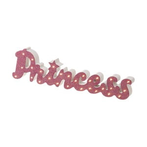 Růžový LED světelný nápis Unimasa Princess
