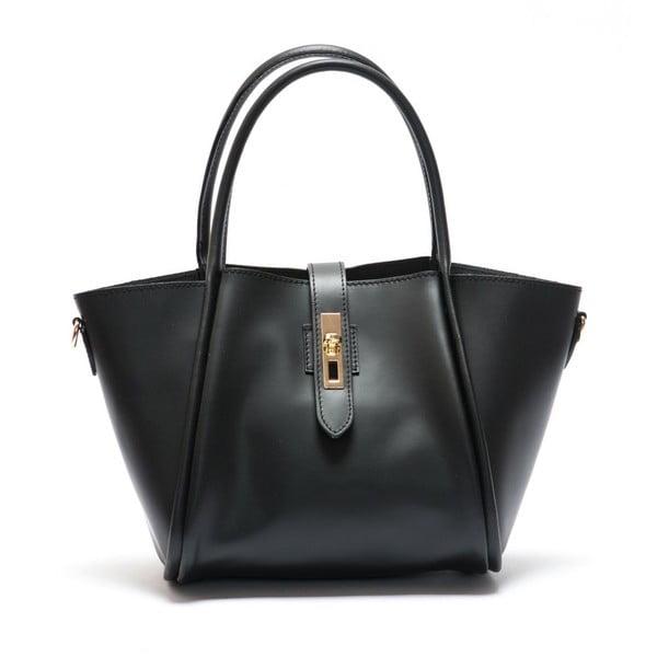 Černá  kožená kabelka Mangotti Walleriana