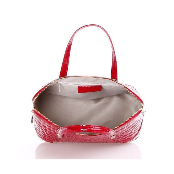 Kožená kabelka Jatany, červená
