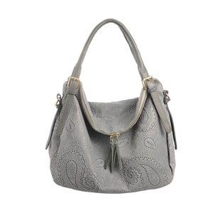 Šedá kožená kabelka Tina Panicucci Promo