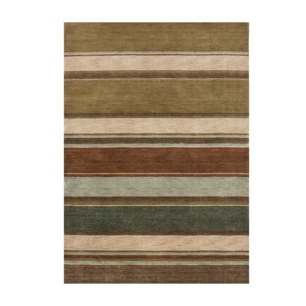 Vlněný koberec Country Green, 170x240 cm